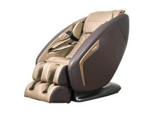 Titan Pro Ace II 3D Massage Chair w/ 3 Stage Zero Gravity, L-Track, Upgraded Foot Rollers, Heat, Bluetooth Speakers, Full Body Air Compression Massage - Brown