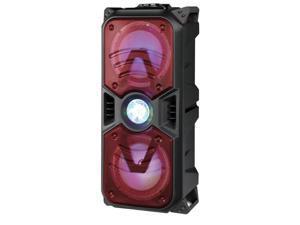 "Supersonic IQ-5265DJBT 2 x 6.5"" Tailgate Bluetooth Speaker with Disco Light Red"