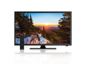 AXESS TVD1805-22 22-Inch 1080p LED HDTV, Features 12V Car Cord Technology, VGA/HDMI/USB Inputs, Built-In DVD Player, Ful