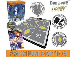 DDR Multi-Platform Super Sensors Energy Super Deluxe Dance Pad (PS, PS2, XBox, Wii, PC, Mac) with DDR Game Ultramix 2 (XBOX)