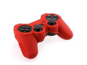 Silicone Rubber Skin Cover Protector Case for Playstation 3 PS3 Controller (Red)