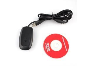 PC Wireless Controller Gaming USB Receiver Adapter For Microsoft XBOX 360 + CD