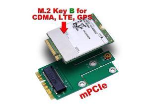 M.2 (NGFF) Card to mini PCIe mPCIe Adapter