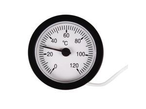 Dial Thermometer Capillary Temperature Gauge 1.5m Sensor 0-120 degree centigrade for Measuring Liquid Gas Solid