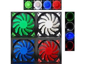 Mokingtop2018 Quiet Cooling Fan 120mm DC 12V 3+4pin LED Light effects Clear Computer Case Fan for Radiator Mod