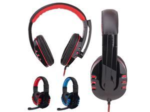 Wired Gaming Headset Headphones Headband Stereo Gaming Headset Headband Headphone USB 3.5mm LED with Mic for PC
