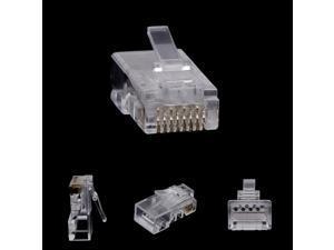 10Pcs RJ45 8-Pin Connector CAT6 Network Cable Modular Ethernet Crystal Plugs Z07 Drop ship