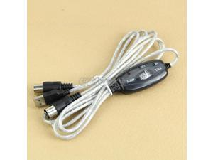 MIDI USB IN-OUT Interface Cable Cord Line Converter PC to Music Keyboard Adapter Z09 Drop ship