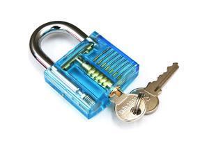 1pc Transparent Visible Pick Cutaway Practice Padlock Lock With Broken Key Removing Hooks Lock Extractor Set Locksmith Tool