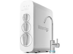 Waterdrop Tankless 400 GPD 7 Stage RO Reverse Osmosis Drinking Water Filtration System with Smart Faucet, NSF Certified, 1:1 Drain Ratio, Compact, USA Tech, WD-G3-W