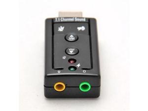 External USB AUDIO SOUND CARD ADAPTER VIRTUAL 7.1 ch USB 2.0 Mic Speaker Audio Headset Microphone 3.5mm Jack Converter