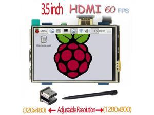 raspberry pi 3.5 inch HDMI LCD touchscreen touch screen 60 fps high speed  better  480*320-1920*1080 than 5 inch and 7 inch