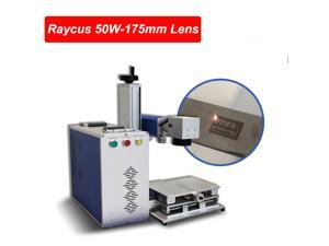 50W Raycus Fiber Laser Marking Machine 175*175mm Lens with 80mm Rotary Axis USB Laser Engarver CE, FDA
