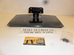 NEW Seiki SE28HY10 TV Stand Great Condition With Screws 43PR