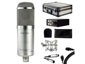 Nady TCM-1150 Studio Tube Condenser Microphone  - Includes gold-sputtered mylar dual diaphragm, padded case, power supply/pickup pattern selector, 30' XLR cable, shockmount, and foam windscreen