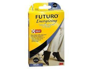 FUTURO Energizing Trouser Socks for Women, Mild, Black, Large, 1 pair