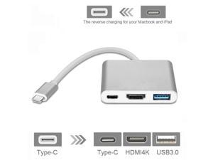 Type-C to HDMI USB-C Digital Multiport Adapter - USB 3.1 Type-C to HDMI 4K Multiport Adapter USB 3.0 HUB With 1 Charging Port for New Macbook Chromebook Pixel