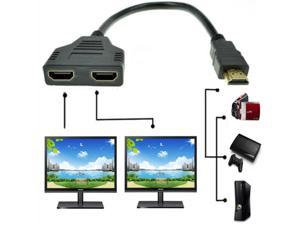 HDMI Male to Dual HDMI Female 1 to 2 Way HDMI Splitter Adapter Cable For HDTV, Support Two TVs at the Same Time, Signal One in, Two out