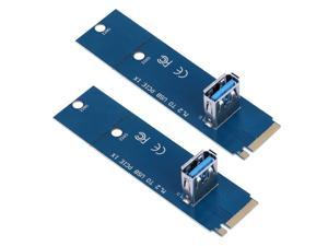 2pcs M.2 NGFF to USB 3.0 PCI-E PCI Express X16 Converter Adapter PCIe Extender Miner Mining Graphic Card Adapter Converter Cards
