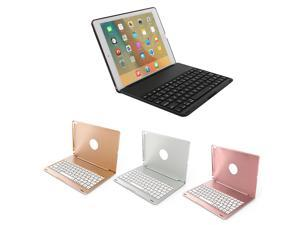 Wireless Bluetooth Backlit Keyboard with Case Charging Cable Protective Film Aluminum Alloy Tablet Keyboard for iPad Pro 10.5