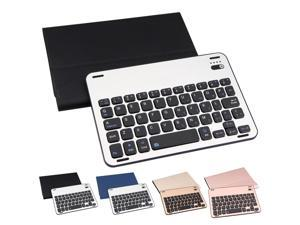 Portable Aluminum Alloy Bluetooth Wireless Keyboard Leather Protective Case Magnetic Charging Cable for iPad mini123 Tablet