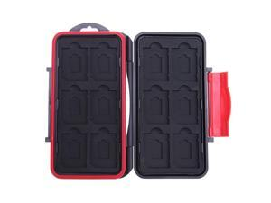 All in One Storage Waterproof Card Case Shockproof 12SD+12TF Cards Box Large Capacity Memory Card Cases 153x90x20mm