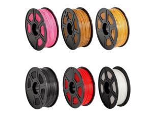 High Quality 3D Printer Filament ABS 1.75mm 330m/1082ft Lenght 6 Colors Plastic Consumables for 3D Printing Materials
