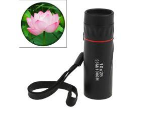 10*25 Portable Professional High Times High Definition Dual Focus Zoom Monocular Pocket Telescope, Size: 9.2*3cm