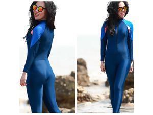 Women One-piece Long Sleeve Snorkeling Wetsuit Sunscreen Full Body Swimwear Diving Suit, Size: 5XL