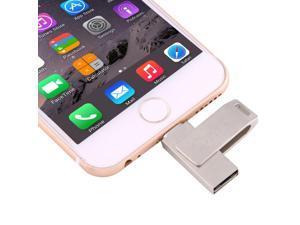 iDragon-U009 128GB 8 Pin to USB 2.0 2 in1 Mini 2 Rotating Metal Flash Disk Drive, for iPhone & iPad & iPod