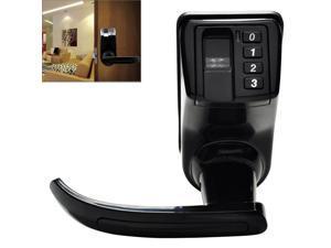 LS-9 ADEL DIY Fingerprint Door Lock with Password and Mechanical Key, Support up to 120 Fingerprints Memory(Black)