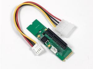 PCI-e 1X/4X Card to M.2 M Key 4 Lane Adapter with CLKREQ
