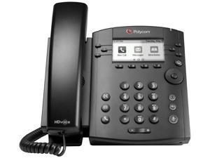 Poly VVX 300 IP Phone - 6 x Total Line - VoIP - Speakerphone - 2 x Network (RJ-45) - PoE Ports