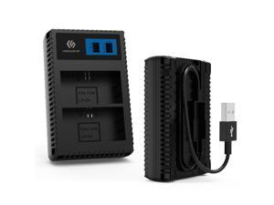 LP-E6 E6N CoolShow LCD Display Battery Charger for Canon LP-E6 E6N,Compatible With Canon 60D, 70D, 5D Mark II III IV Camera Battery