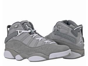 check out 843e2 c34cb Nike Air Jordan 6 Rings BG Grey White Big Kids Basketball ...