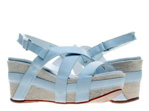 Antelope 819 Off White Women's Wedge Sandals 819-OFFWHITE Size 38 EUR