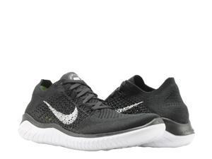 Nike Free RN Flyknit 2018 Black/White Men's Running Shoes 942838-001 Size 12