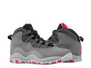de44e61779b3ac Nike Air Jordan 10 Retro (PS) Dark Shadow Grey Little Kids Basketball Shoes  487212