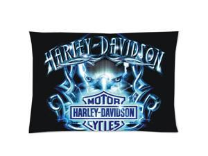Decorative Harley Davidson Pillow Case Best Gift 20x30 inch 2 Sides Printed (50% cotton, 50% polyester)