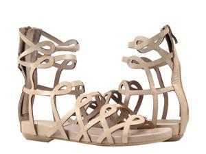 Antelope 129 Laser Cut Gladiator Gold Metalic Women's Sandals 129-BLACK Size 39 EUR