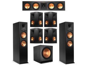 Klipsch 7.1 Ebony System with 2 RP-280F, 1 RP-450C, 4 RP-250S, 1 SPL-150 Sub