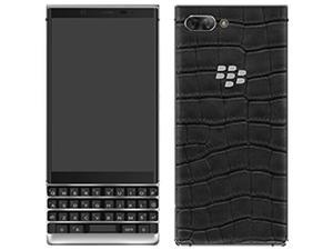 BlackBerry KEY2 Dual-SIM 128GB BBF100-6 QWERTY Keypad Luxury Edition (GSM Only, No CDMA) Factory Unlocked 4G/LTE Smartphone (Black, 24k White Gold Rhodium + Alligator Leather Black)