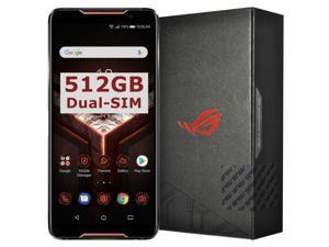 ASUS ROG Gaming Phone ZS600KL 8GBRAM, 512GB Storage, Dual-SIM (GSM Only, No CDMA) Factory Unlocked 4G Smartphone (Black)
