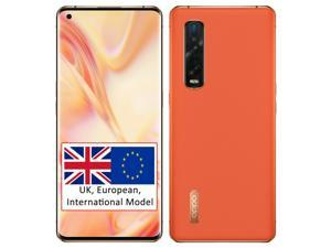 Oppo Find X2 Pro (5G) CPH2025 512GB + 12GB RAM (GSM Only | No CDMA) Factory Unlocked Smartphone - Orange (Leather)