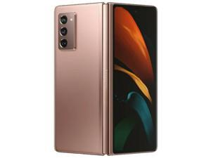 Samsung Galaxy Z Fold2 5G SM-F916B 256GB ROM + 12GB RAM (No CDMA | GSM Only) Factory Unlocked Smartphone - International Version - Mystic Bronze