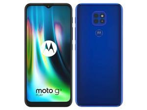 Motorola Moto G9 Play Dual-SIM XT2083 64GB (GSM Only | No CDMA) Factory Unlocked 4G/LTE Smartphone - International Version - Sapphire Blue