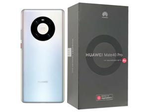 Huawei Mate 40 Pro 5G DUAL-SIM 256GB (GSM Only | No CDMA) Factory Unlocked Android Smartphone - Silver