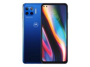 Motorola Moto G Plus 5G Dual-SIM 128GB ROM + 6GB RAM (GSM Only | No CDMA) Factory Unlocked Android Smartphone (Surfing Blue) - International Version