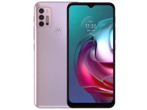 Motorola Moto G30 PAML0017GB Dual-SIM 128GB ROM + 4GB RAM (GSM Only | No CDMA) Factory Unlocked 4G/LTE Smartphone (Pastel Sky/White) - International Version