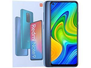 Xiaomi Redmi Note 9 Dual-SIM 128GB ROM + 4GB RAM (GSM Only | No CDMA) Factory Unlocked 4G/LTE Smartphone (Midnight Grey) - International Version